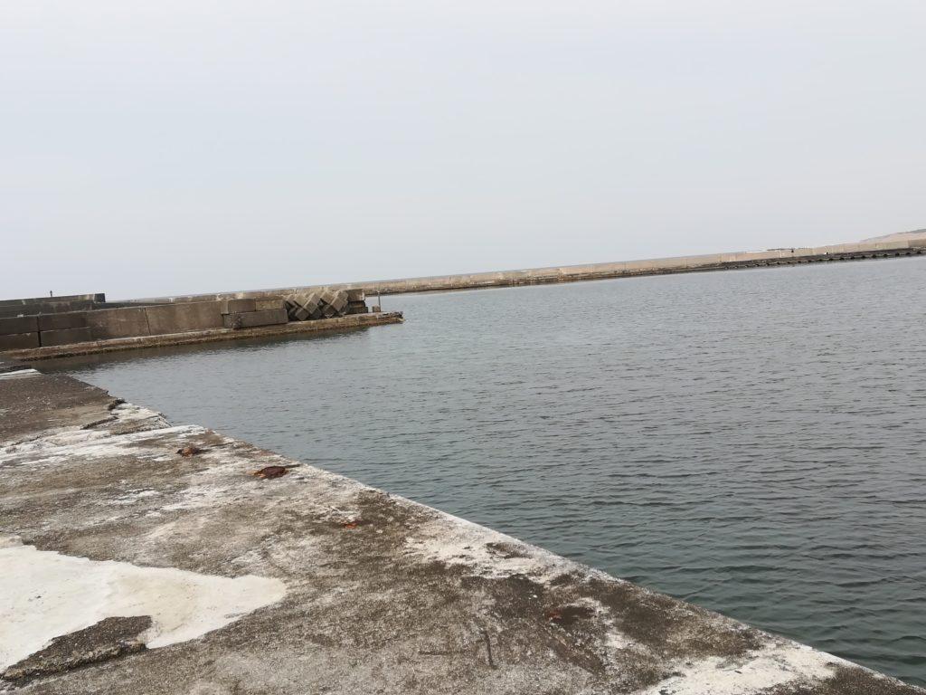 西堤防湾内の様子