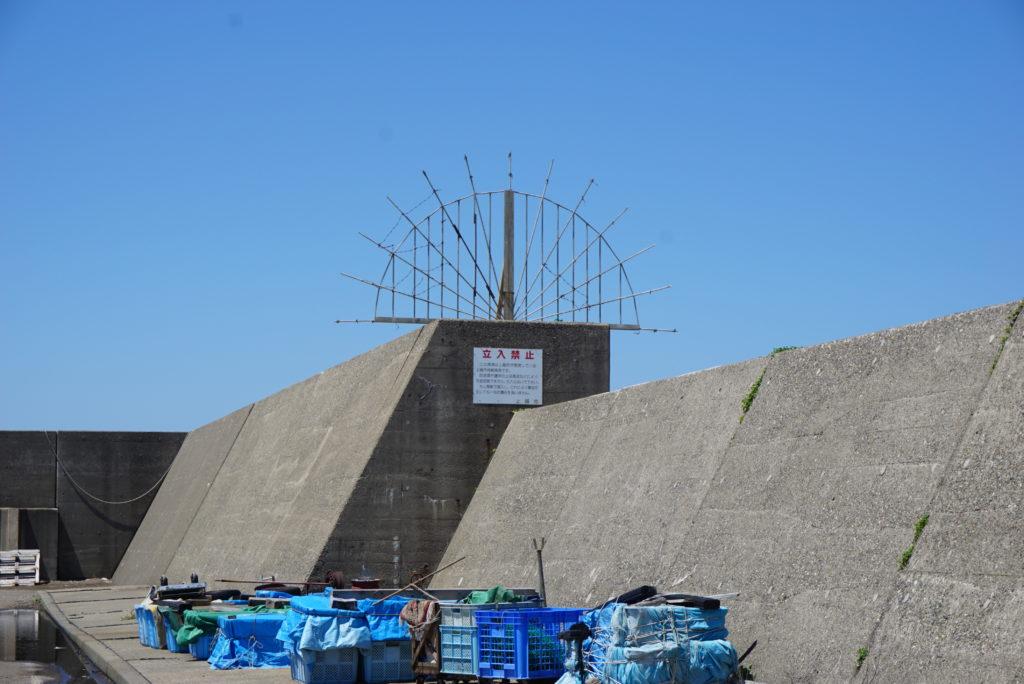 東堤防外洋側の柵