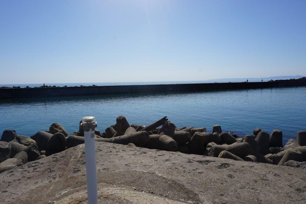 中央堤防から見た西堤防