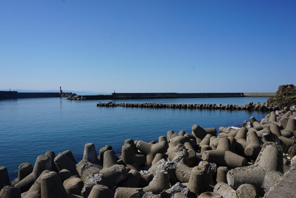 中央堤防から西堤防を見た様子