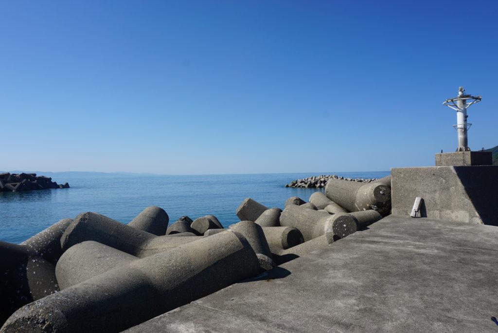 東堤防先端部