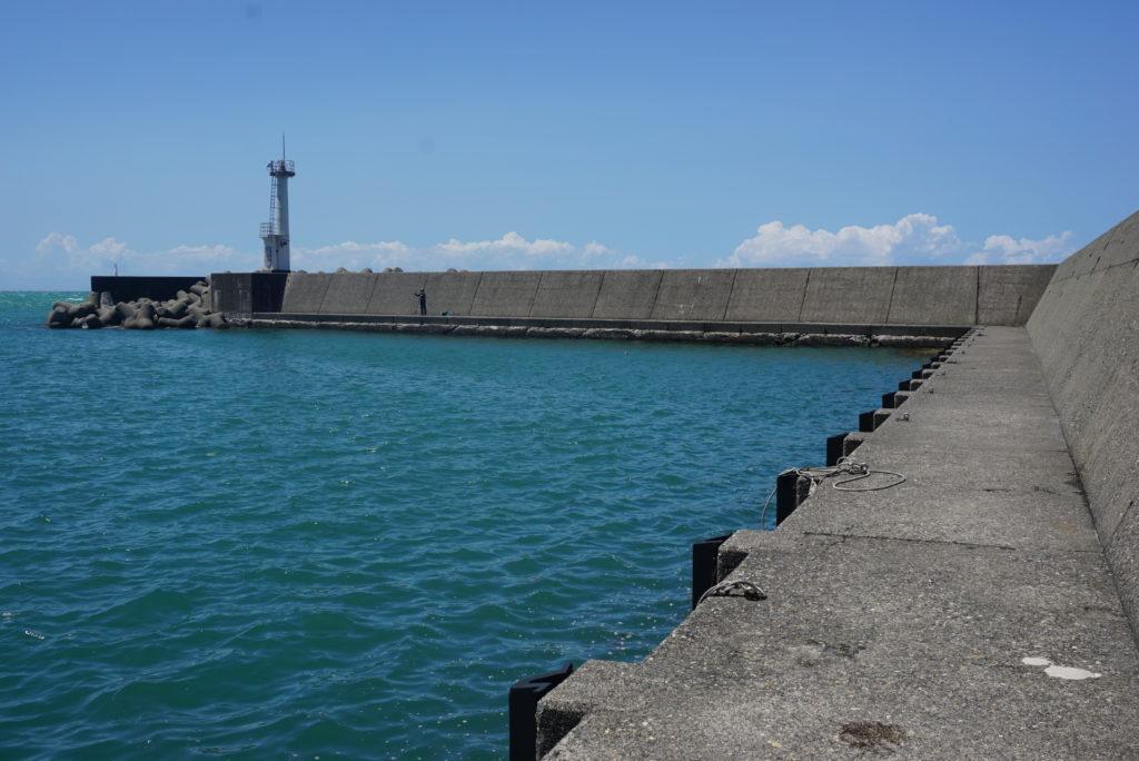 東堤防湾内の様子