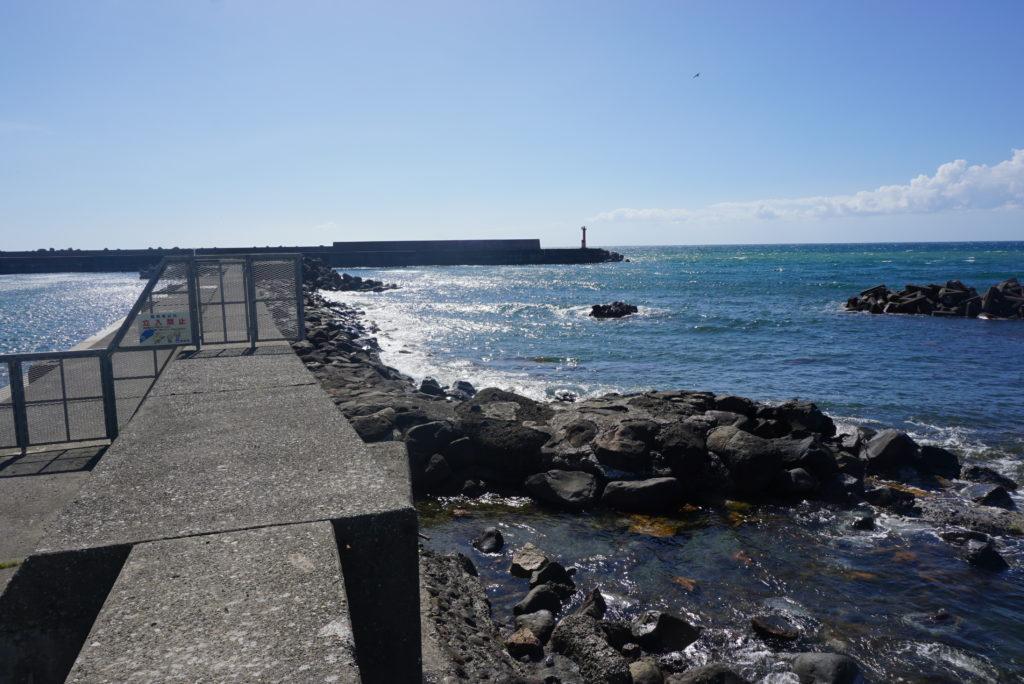 東堤防の外洋の様子