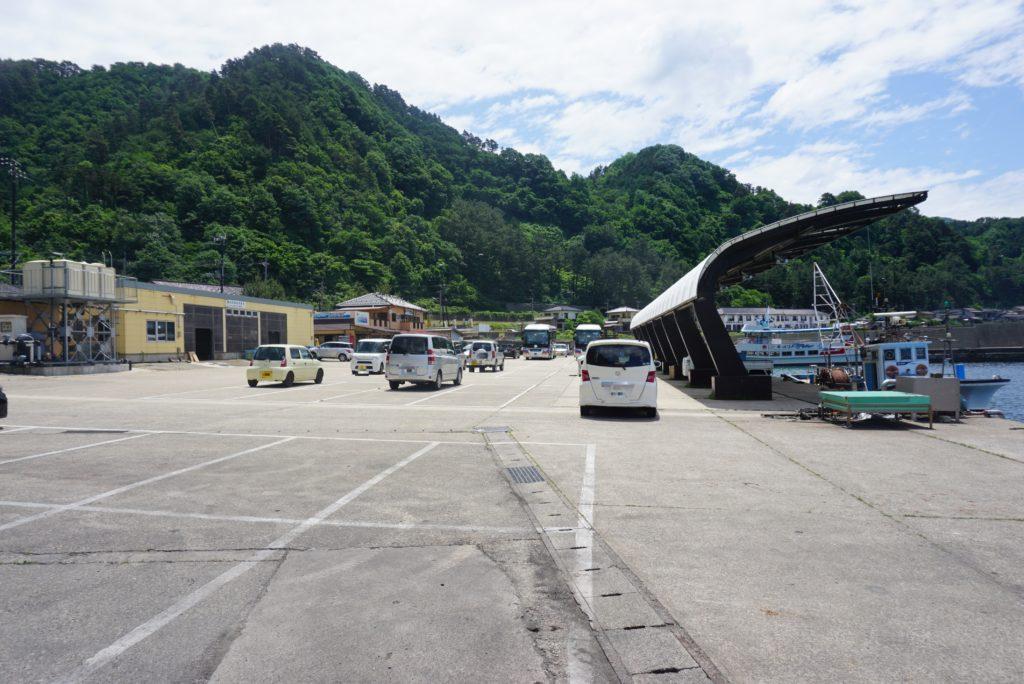 西堤防駐車場