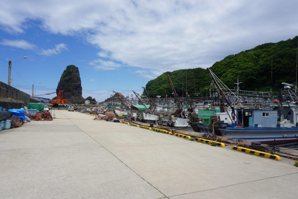 中央堤防漁船