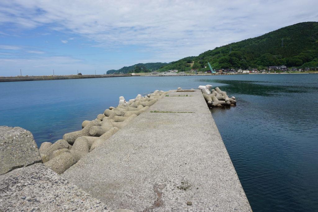 船溜まり場の突堤