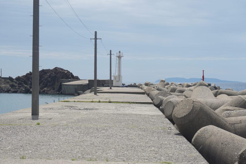 白灯台堤防の様子